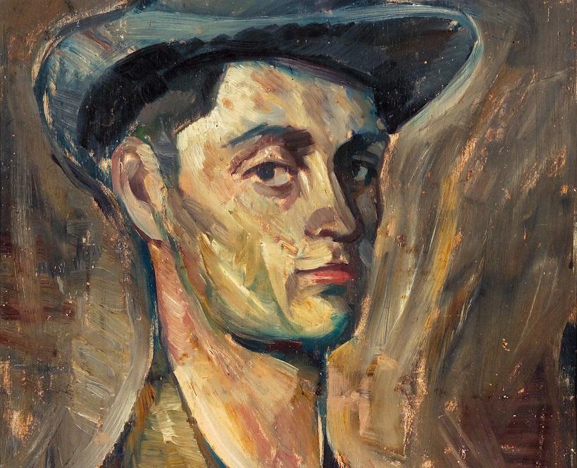 Taidemaalari Ilmari Aallon omakuvamaalaus.