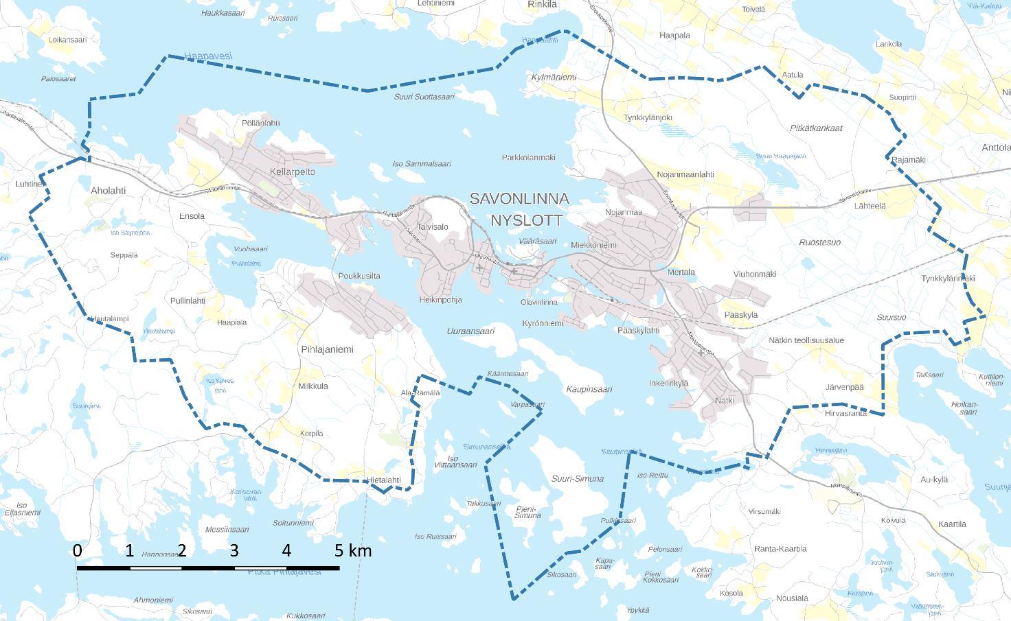 Savonlinnan keskustaajama