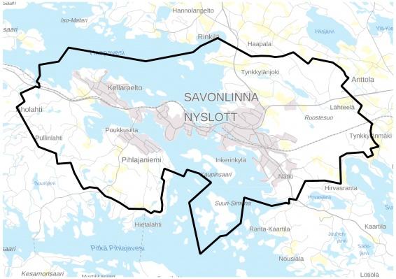 Strategisen yleiskaava-alueen sijainti