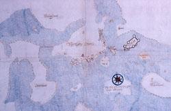 Linnankadun alueen vanha kartta